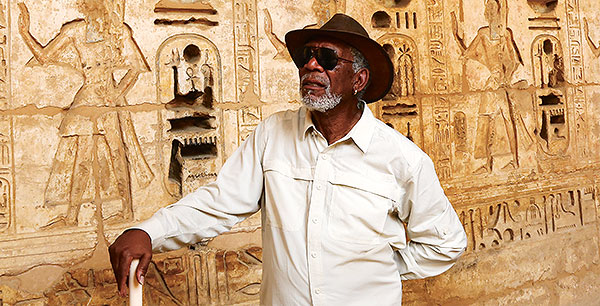 Morgan Freeman v Egyptě